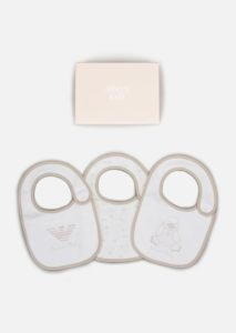 ARMANI Three-Piece Bib Set