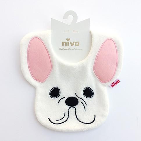 niva フレンチブルドッグbib(French Bulldog ホワイト)